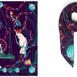 "Forget Me Not - ""Tropical"" Forget Me Not Silk Scarf"