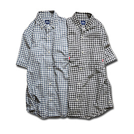 HEADGOONIE - 100%PURE ORGANIC COTTON GINGHAMCHECK SHIRTS