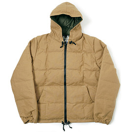 CRESCENT DOWNWORKS × WAREHOUSE - WAREHOUSE COTTON SHELL DOWN JACKET