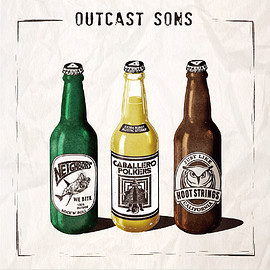 Various Artists, Neighbors, Caballero Polkers - SPLIT EP『OUTCAST SONS』