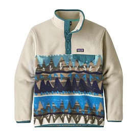 patagonia - Boys' Lightweight Synchilla® Snap-T® Pullover, Bandicoot: Pelican (BAPE)