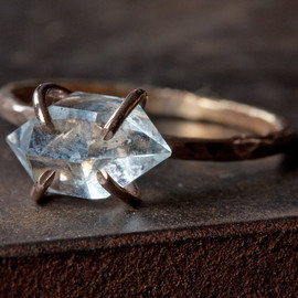 LexLuxe - Herkimer Diamond Crystal Ring