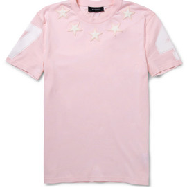 Givenchy - Star-Embellished Printed Cotton T-Shirt