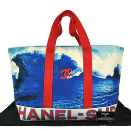 CHANEL - Surf Print Canvas Bag