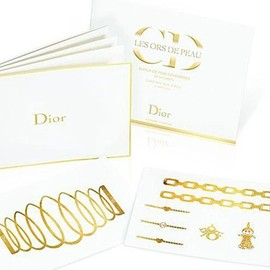 Dior - Gold Temporary Tattoos