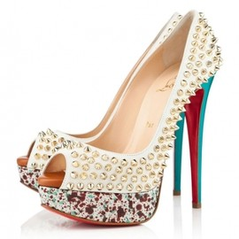Christian Louboutin - LADY PEEP SPIKES in Craie