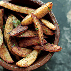 Potato Wedges with Chat Masala