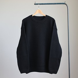 crepuscule - Crewneck Cotton Knit Lawgage #black