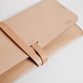 "1point61 - Leather MacBook Air Case MacBook Air Portfolio - For 11"" Macbook Air Leather, Hand-Stitched, Nude"