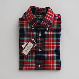 Gitman Vintage - Gitman Vintage | Cotton Button Down Shirts | Red Check