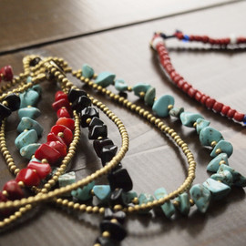 GAIJIN MADE - BRASS STONE ANKLET / BEADS ANKLET