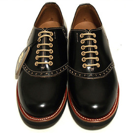REGAL - ×GladHand Black Saddle Shoes
