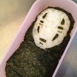 No Face bento. Studio ghibli food