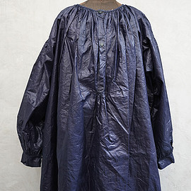 """VINTAGE - late 19th - early 20th c. waxed indigo linen smock """"biaude"""" dead stock"""