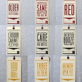 PAPER PLATES PRESS - Booze Letterpress Gift Tags