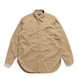 ENGINEERED GARMENTS - Work Shirt-Fineline Twill-Khaki