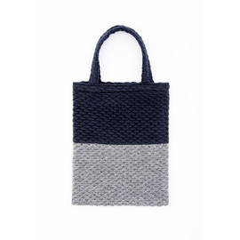 caart - popcorn tote bag gray-navy