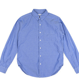 ENGINEERED GARMENTS - Tab Collar Shirt-Dress Chambray-Blue
