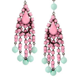 Tom Binns - Bi-color painted Swarovski crystal chandelier earrings