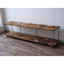 "wood iron shelf ""long lowboard"""