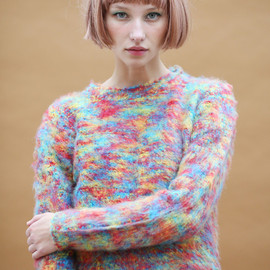 THE WHITEPEPPER - Limited Edition: Multi Colour Soft Crop Jumper