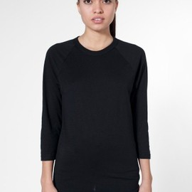 American Apparel - Unisex Poly-Cotton 3/4 Sleeve Raglan Shirt
