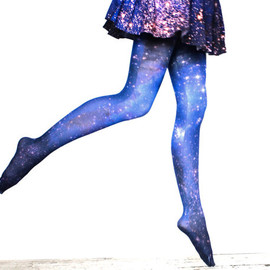 Shadowplaynyc - Galaxy Tights Magellanic Cloud Nebula Space Sheer Leggings