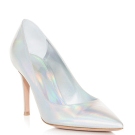GIANVITO ROSSI - Hologram point-toe shoes