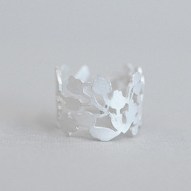 PLANT / PLANT - Winter Garden Ring -white silver-