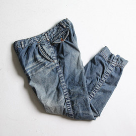 kolor - Wide Puckering Pants - Denim