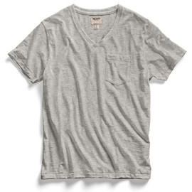 Todd Snyder - Light Grey Pocket V-Neck T-Shirt