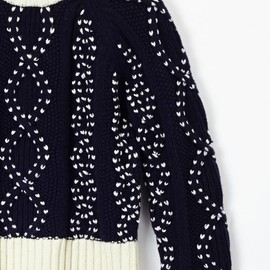 YMC - Cropped Cable Knit (navy)