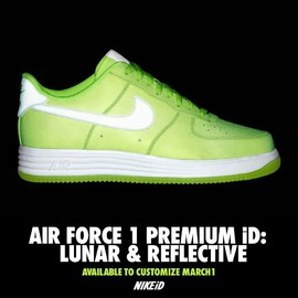 Nike id - AIR FORCE 1 PREMIUM iD LUNAR&REFLECTIVE