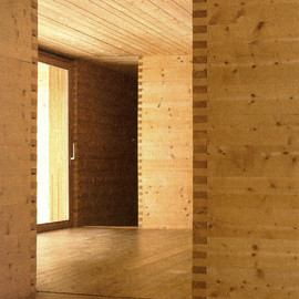 Peter Zumthor - All Wood Interior for Casa Luzi, Jenaz, Switzerland