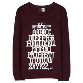 A.P.C. - UNIVERSITY PRINTED JERSEY LOOPBACK SWEATER