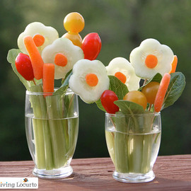 Living Locurto - Veggie Flower Bouquet Treat