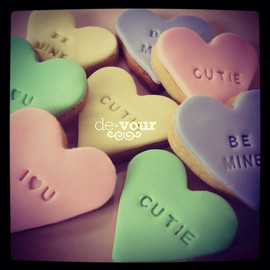 Devour Cakes - Message Cookies