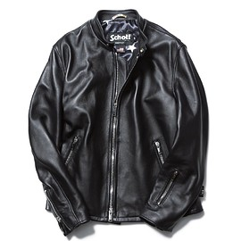 SOPHNET. - SCHOTT LEATHER RIDERS JACKET