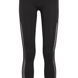 Adidas by Stella McCartney - Perforated stretch-jersey leggings