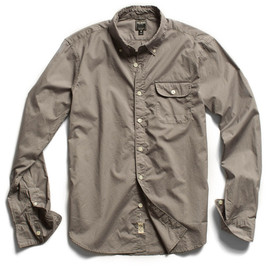 todd snyder - grey solid poplin pocket shirts