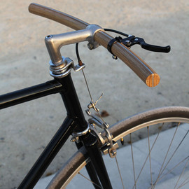 Curved Wood Handlebar by Thibaut Malet