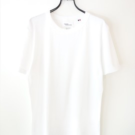 MAISON CORNICHON - ALL RIB KNIT TEE/ ホワイト