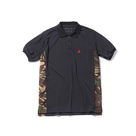 SOPHNET. - CAMOUFLAGE SIDE PANEL POLO