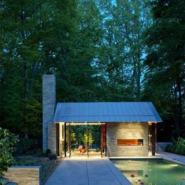 Robert Gurney Architect - Garden Pavillon with Chimney