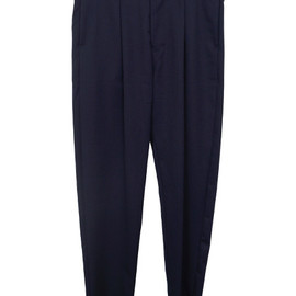 ETHOSENS - TUCK PANTS NAVY