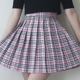 Summer Tales - Pink Tartan Pleated Skirt – Summer Tales