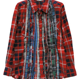 REBUILD BY NEEDLES - Flannel Shirt-Ribbon Tape