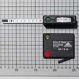 RICHTER - Pkt measuring tapes with level
