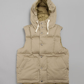 Engineered Garments - DOWN VEST HOODY ARMY CLOTH