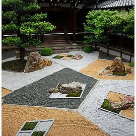 Kyoto - Rock garden of Shinyo-do, Kyoto, Japan (designed by Chisao Shigemori)